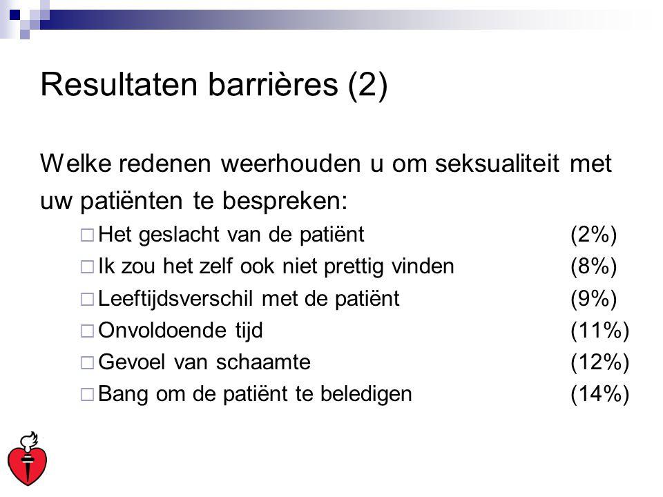 Resultaten barrières (2)