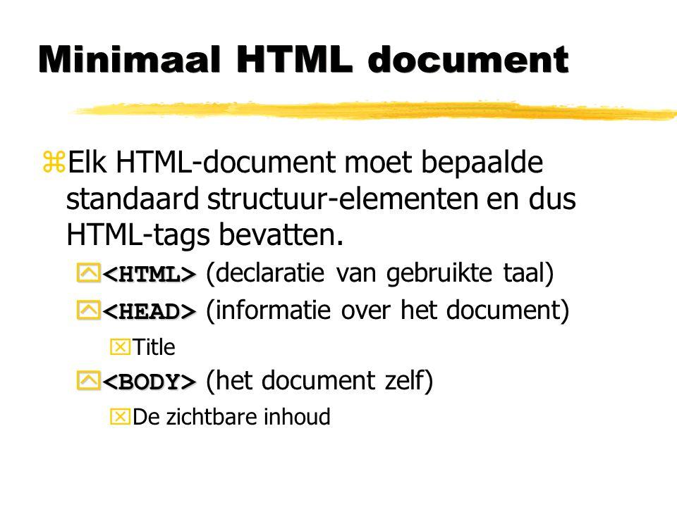 Minimaal HTML document