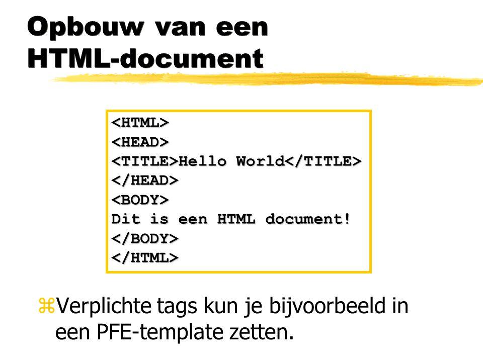 Opbouw van een HTML-document