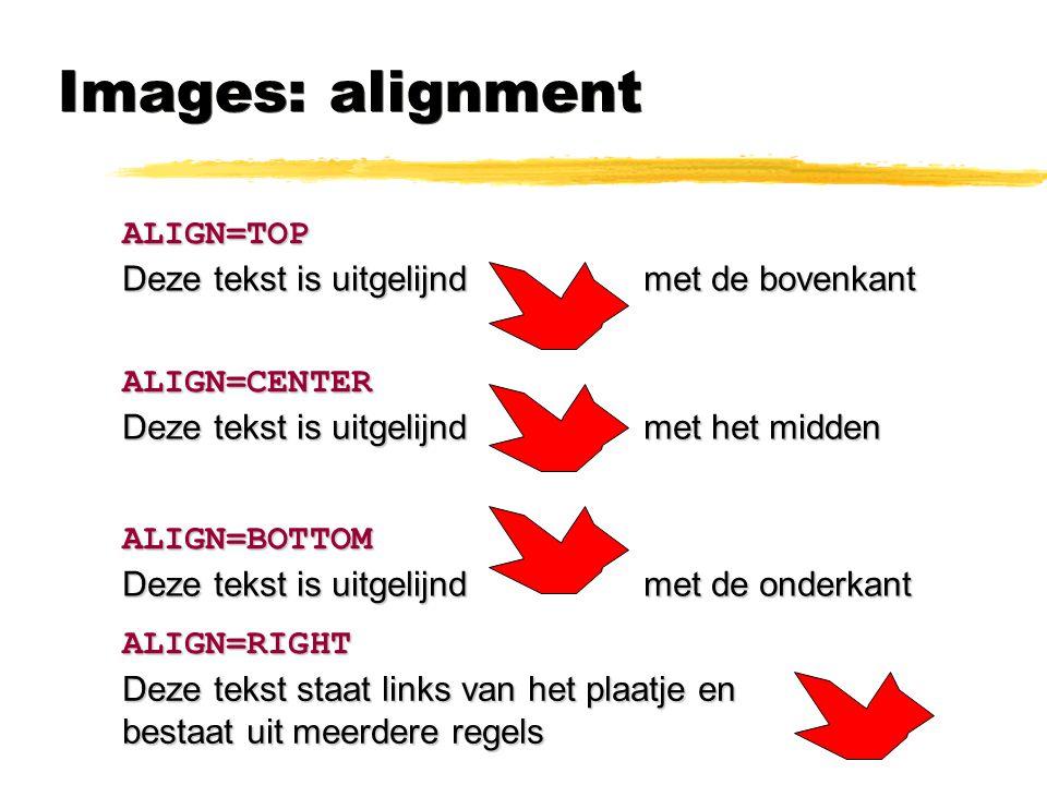 Images: alignment ALIGN=TOP Deze tekst is uitgelijnd met de bovenkant