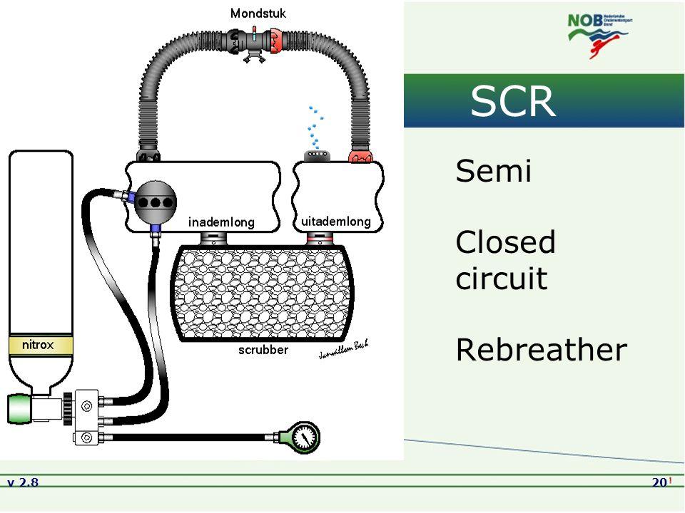SCR Semi Closed circuit Rebreather Versie2.8 01-09-2005