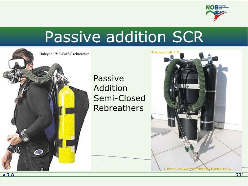 Passive addition SCR Passive Addition Semi-Closed Rebreathers