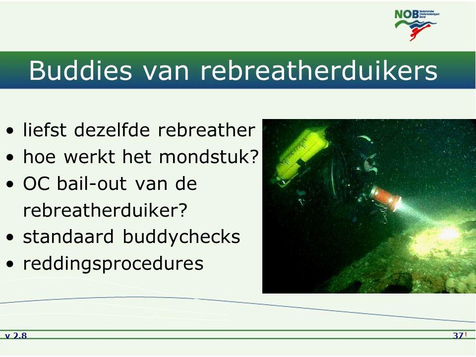 Buddies van rebreatherduikers