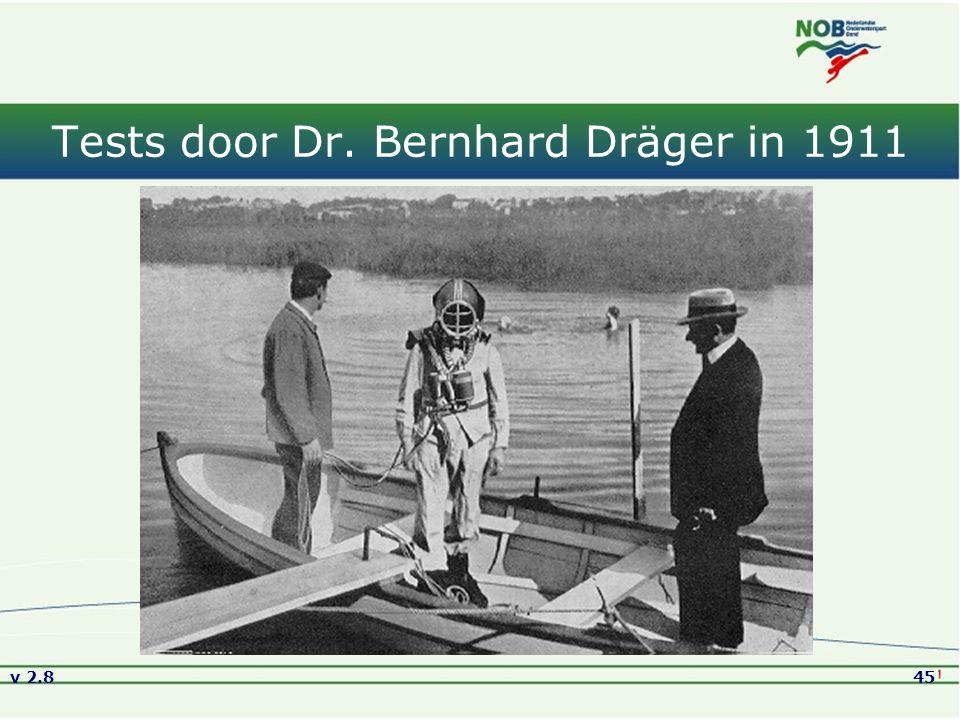 Tests door Dr. Bernhard Dräger in 1911