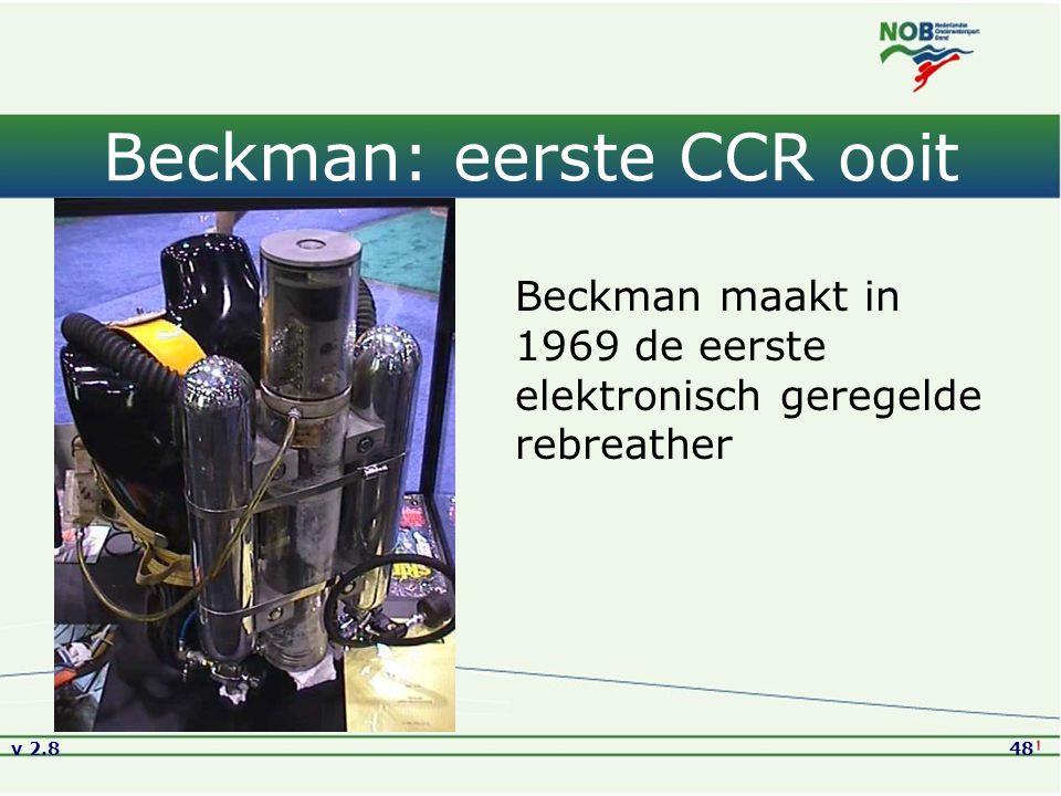Beckman: eerste CCR ooit