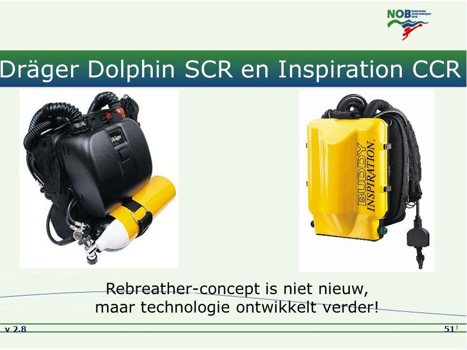 Dräger Dolphin SCR en Inspiration CCR