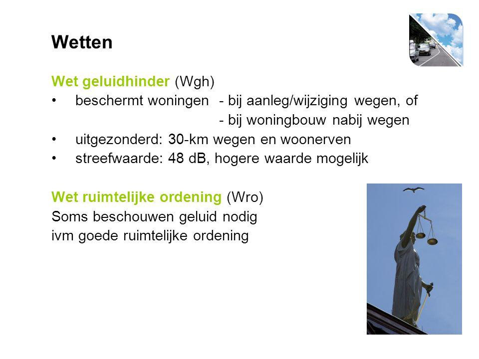 Wetten Wet geluidhinder (Wgh)