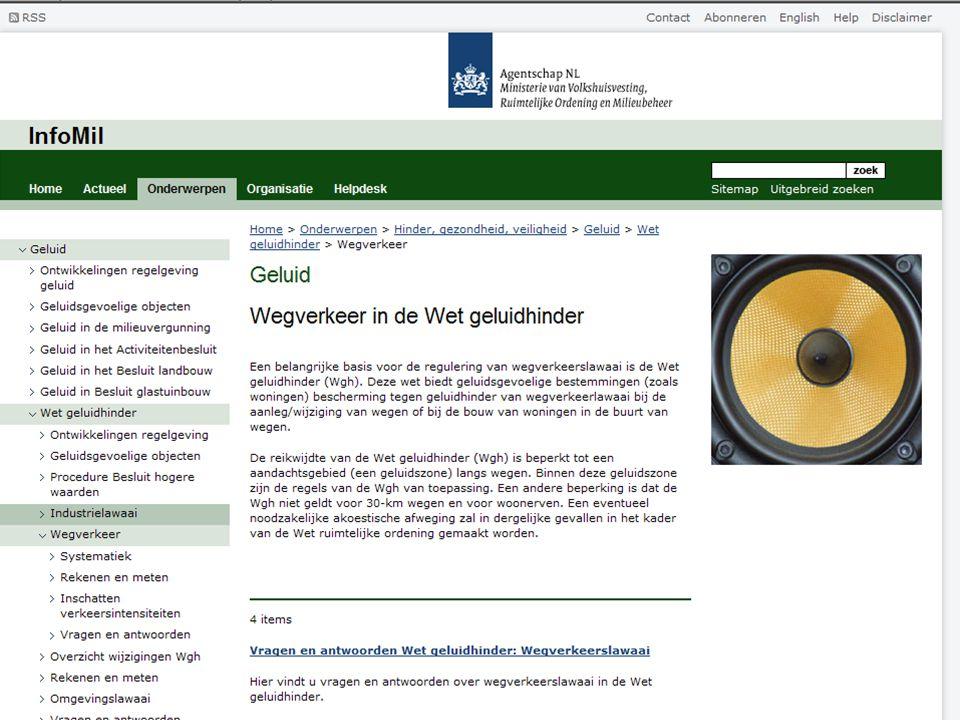 Meer informatie over regelgeving geluid: www.infomil.nl