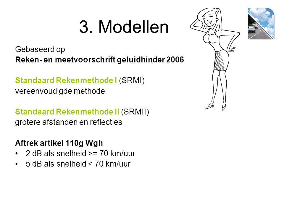 3. Modellen Gebaseerd op Reken- en meetvoorschrift geluidhinder 2006