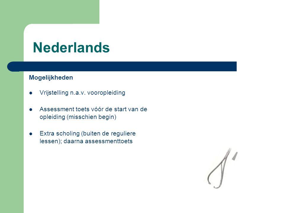 Nederlands Mogelijkheden Vrijstelling n.a.v. vooropleiding