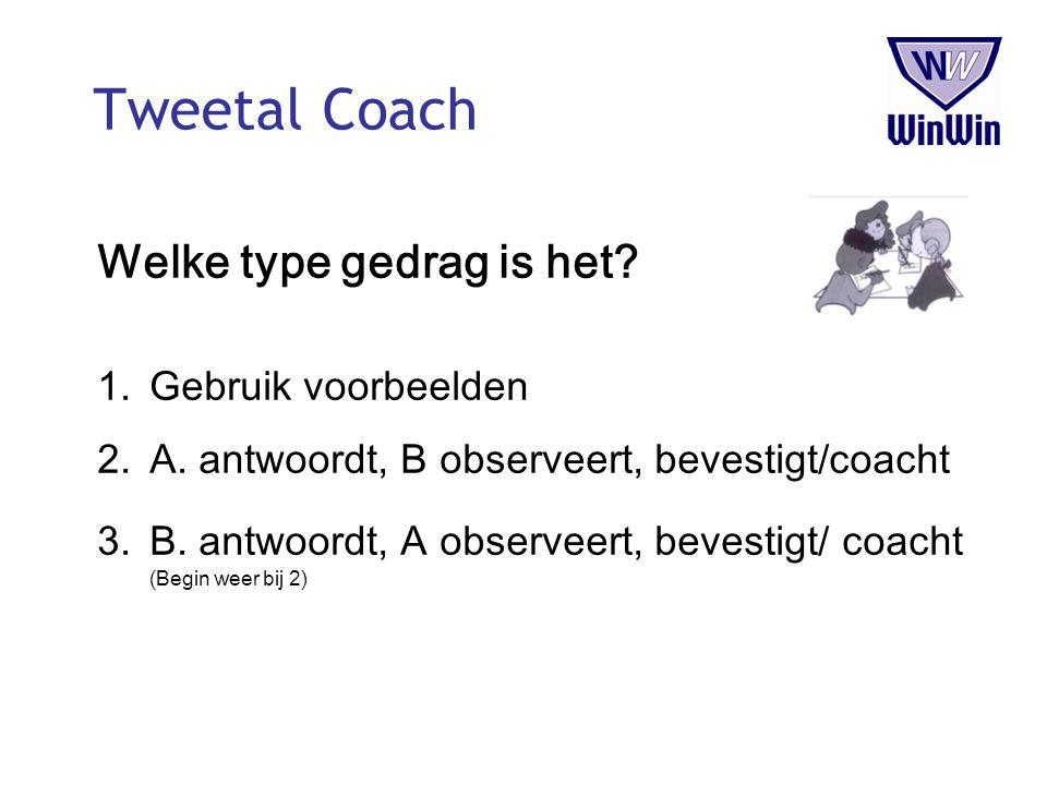Tweetal Coach Welke type gedrag is het Gebruik voorbeelden