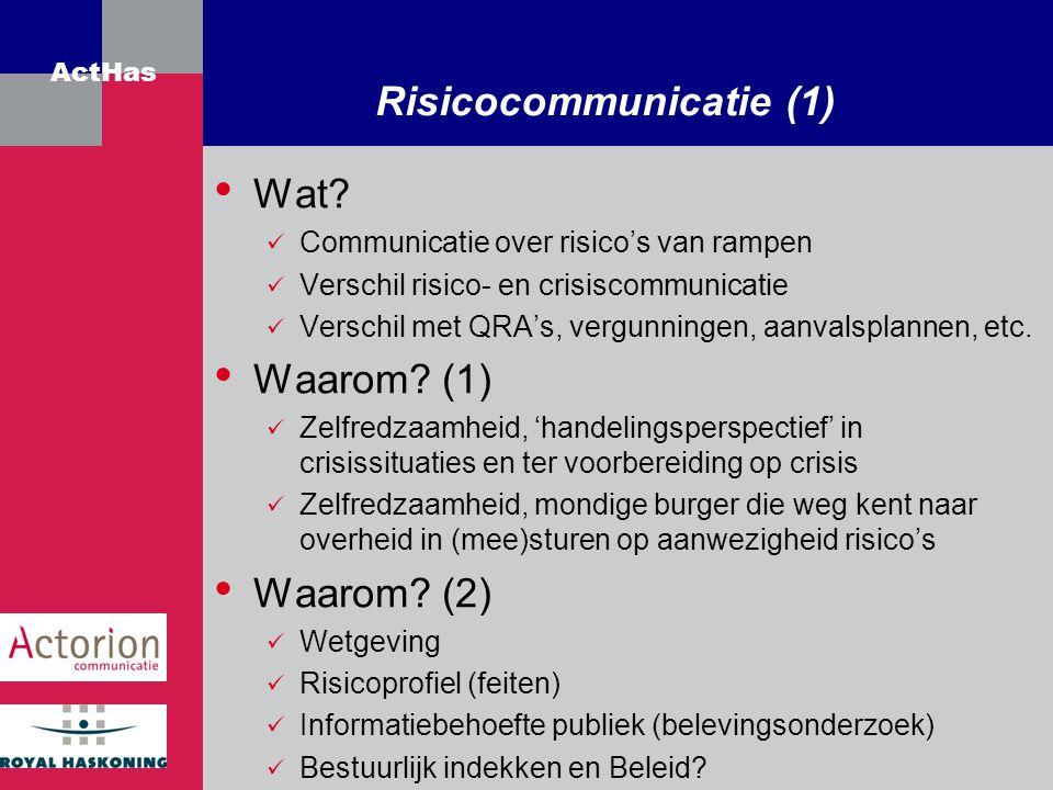 Risicocommunicatie (1)