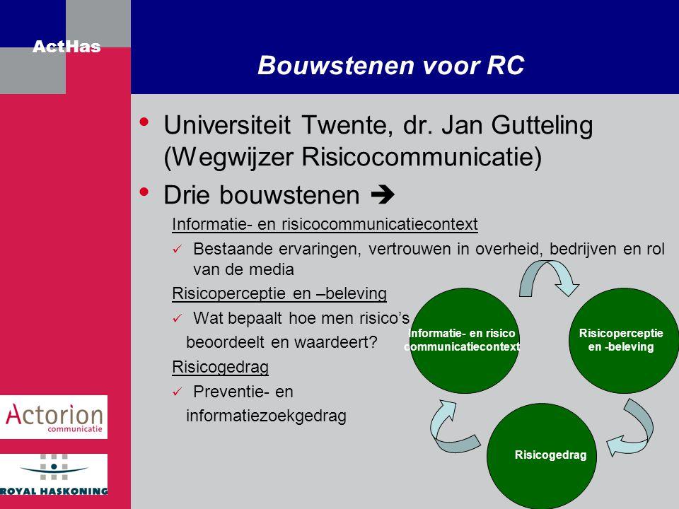 Universiteit Twente, dr. Jan Gutteling (Wegwijzer Risicocommunicatie)