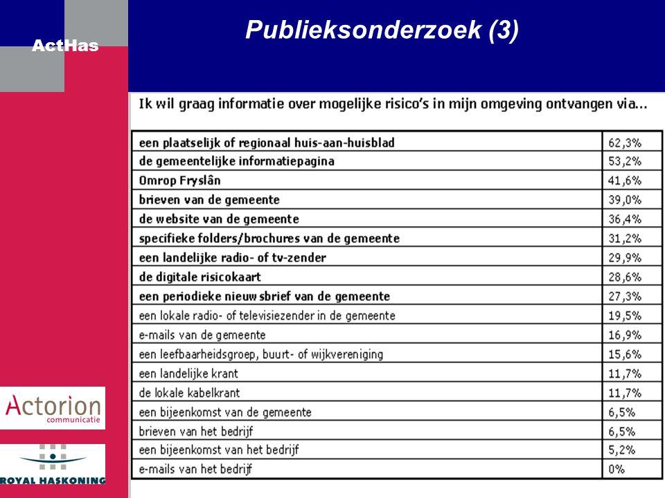 Publieksonderzoek (3)