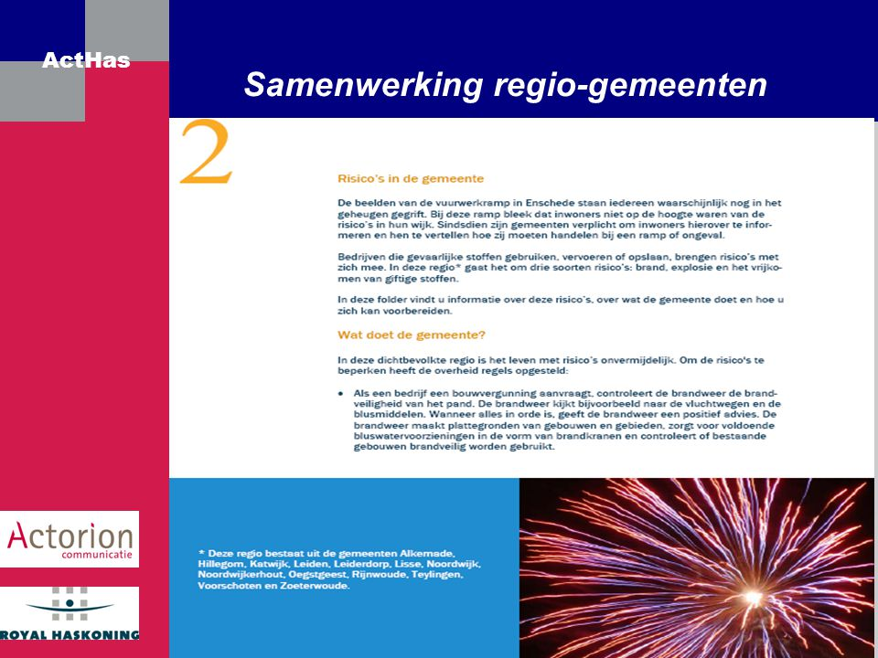 Samenwerking regio-gemeenten