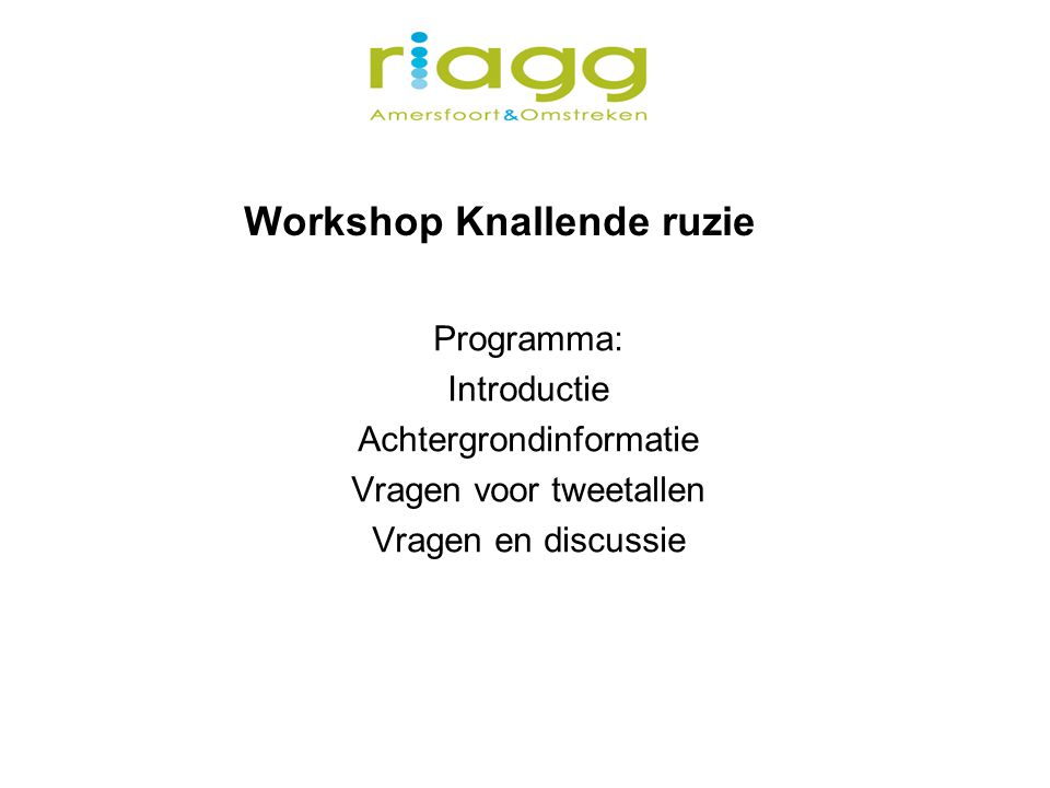 Workshop Knallende ruzie