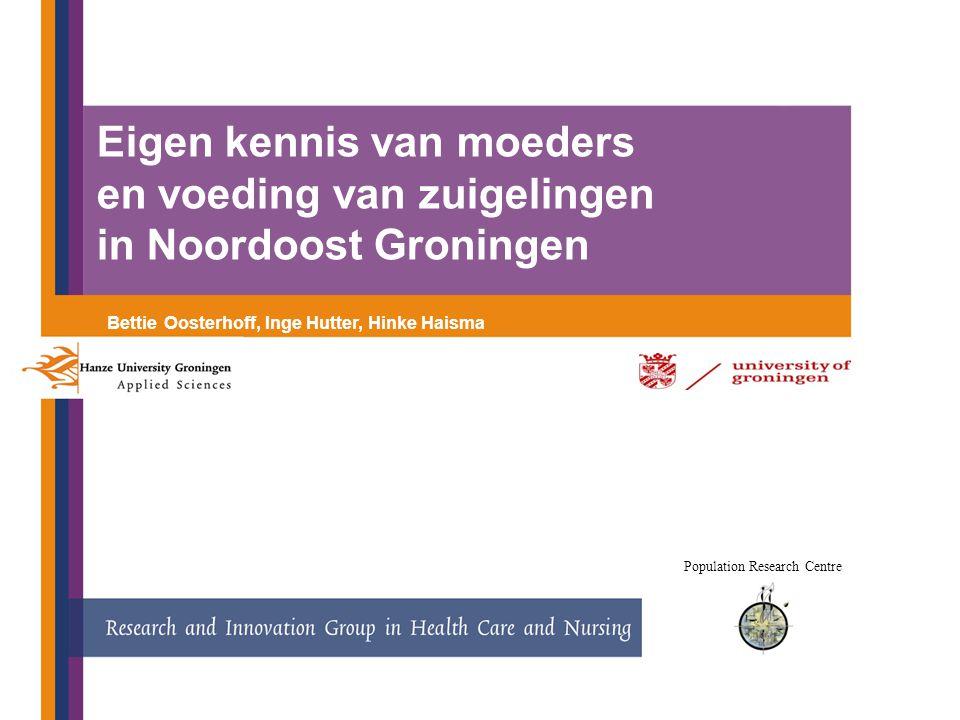 Eigen kennis van moeders en voeding van zuigelingen in Noordoost Groningen