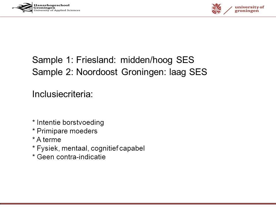 Sample 1: Friesland: midden/hoog SES