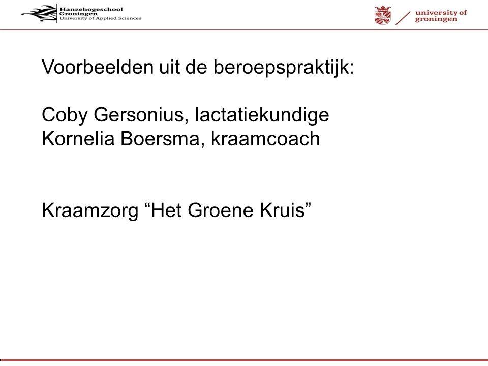 Voorbeelden uit de beroepspraktijk: Coby Gersonius, lactatiekundige