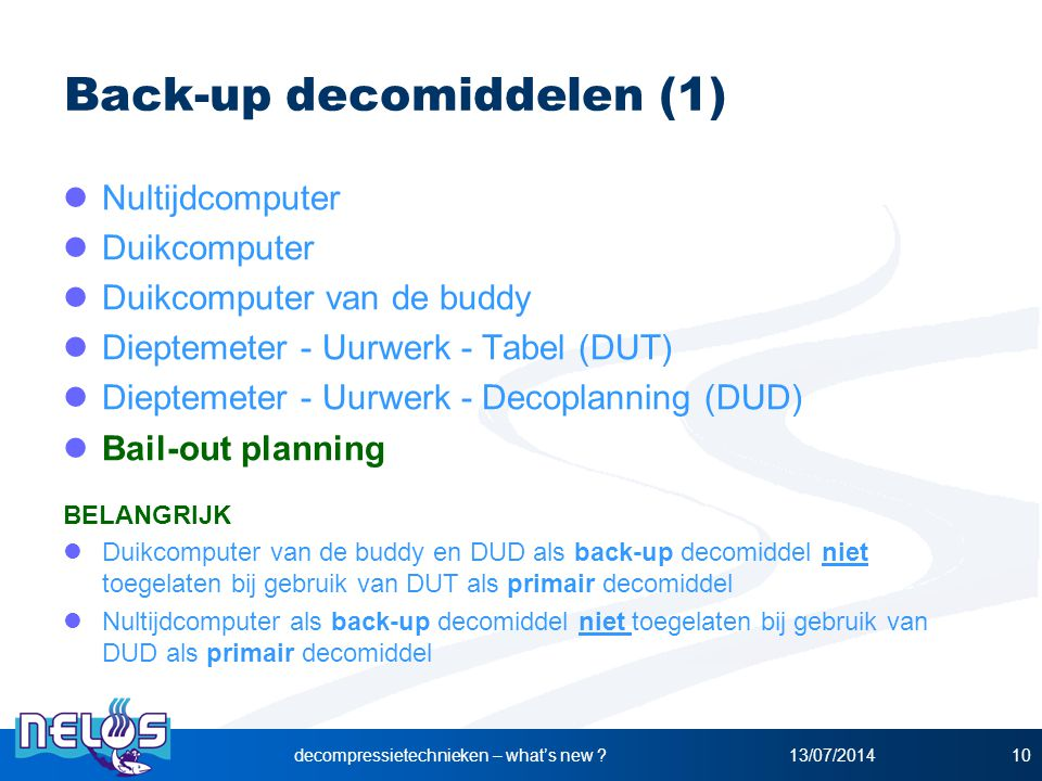 Back-up decomiddelen (1)