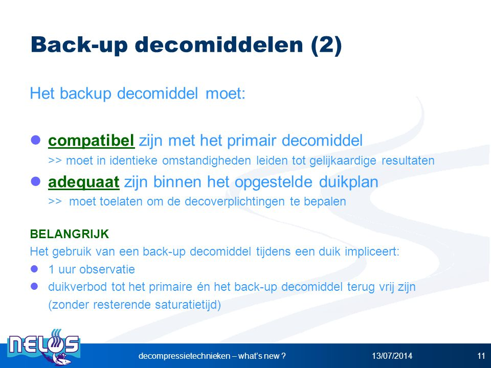 Back-up decomiddelen (2)