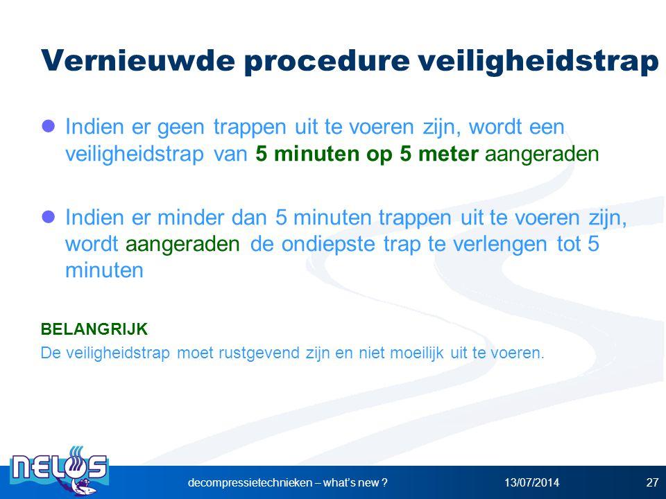 Vernieuwde procedure veiligheidstrap