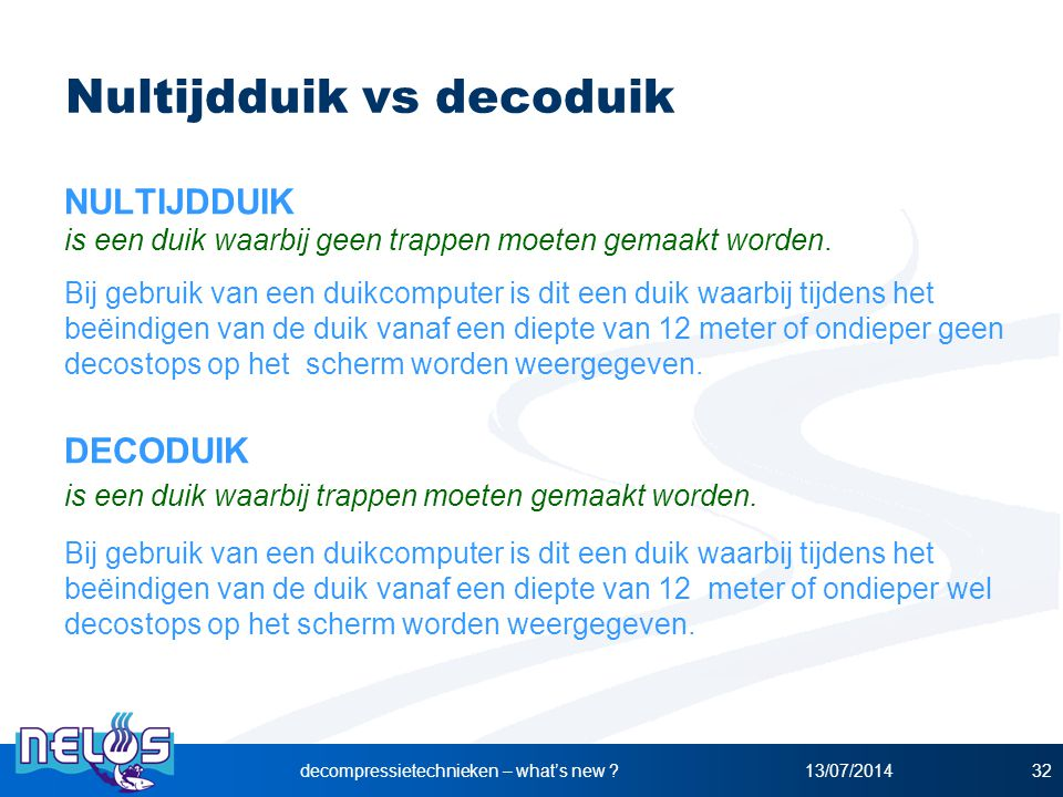 Nultijdduik vs decoduik
