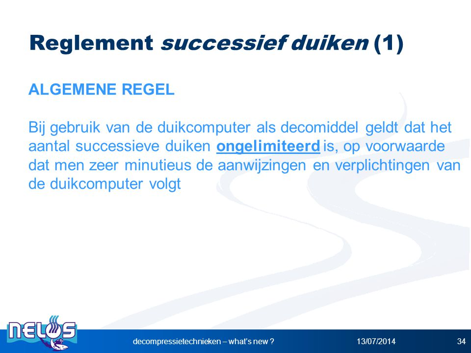 Reglement successief duiken (1)