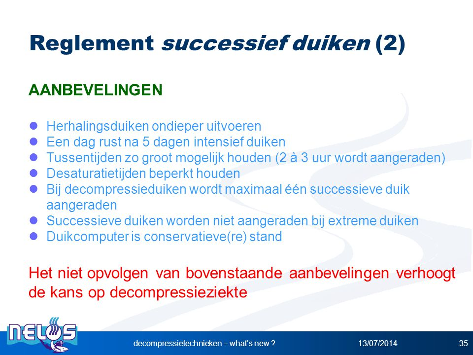 Reglement successief duiken (2)