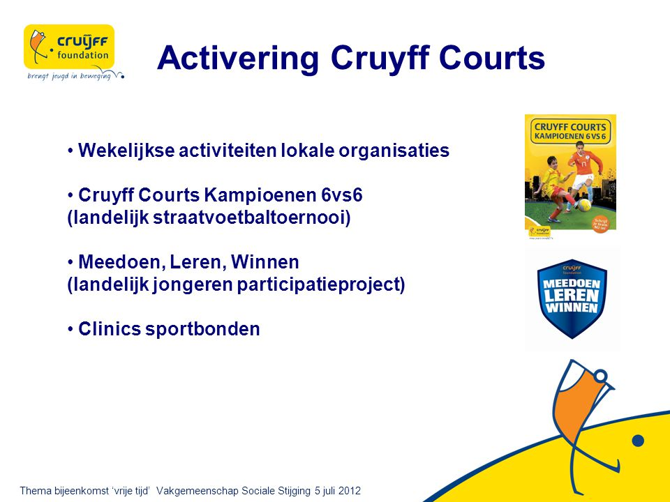 Activering Cruyff Courts