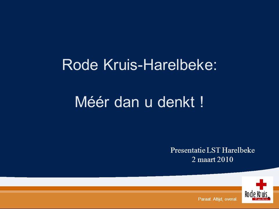 Rode Kruis-Harelbeke: Méér dan u denkt !
