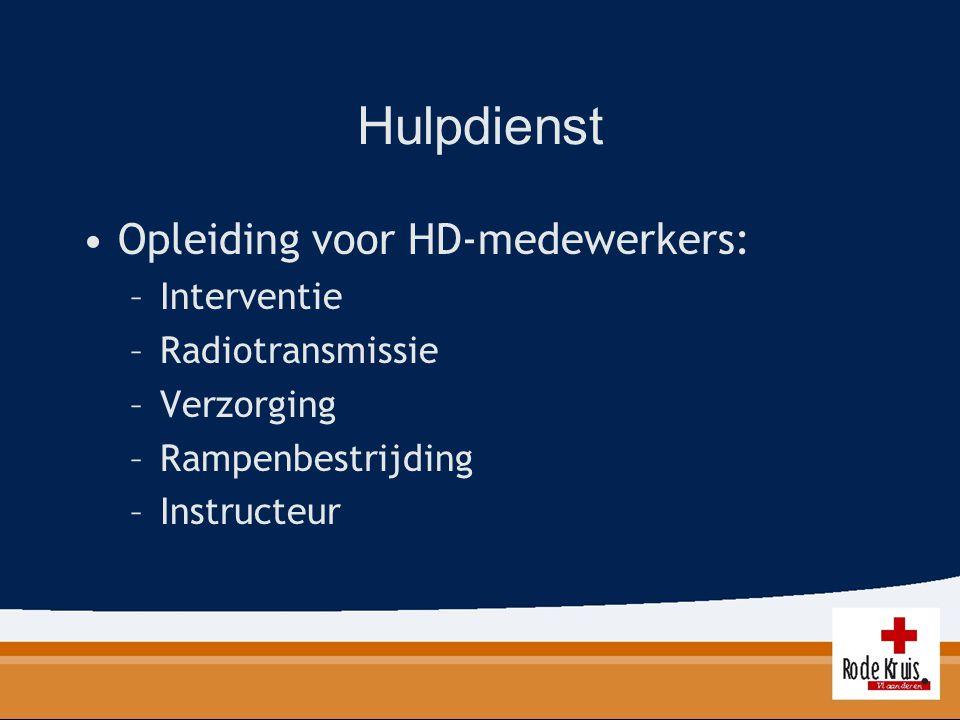 Hulpdienst Opleiding voor HD-medewerkers: Interventie Radiotransmissie