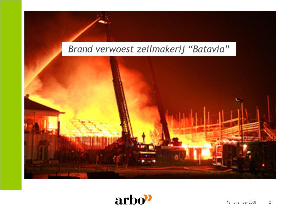 Brand verwoest zeilmakerij Batavia