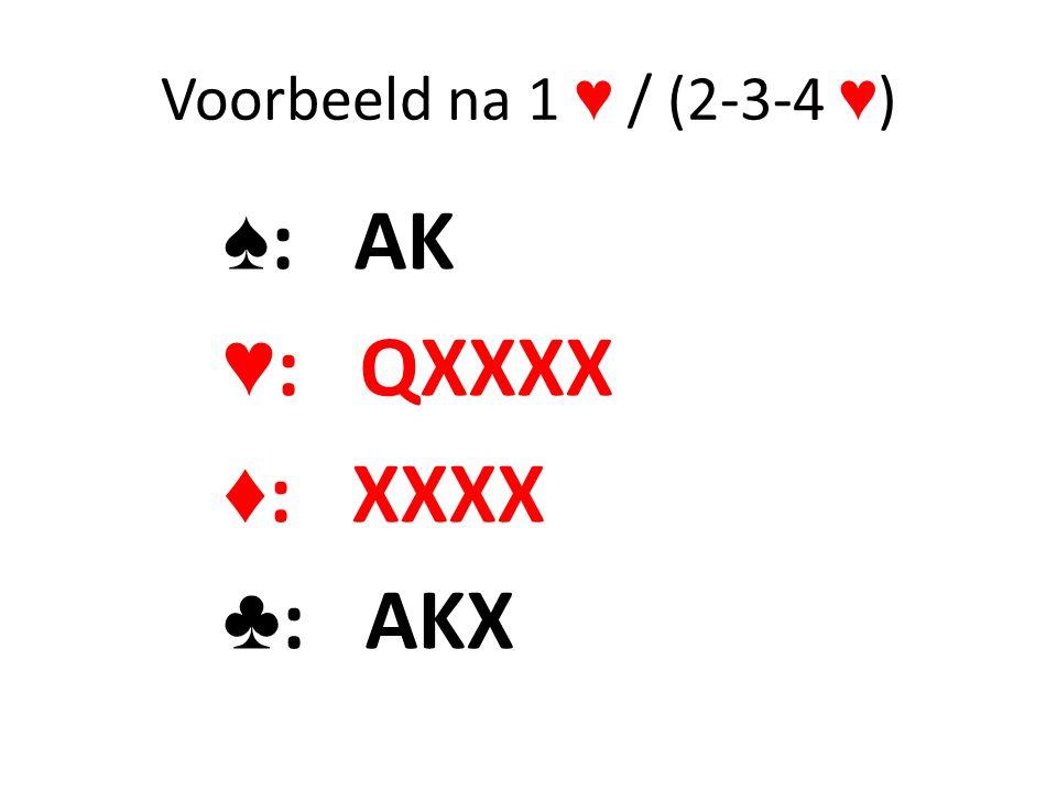 ♠: AK ♥: QXXXX ♦: XXXX ♣: AKX