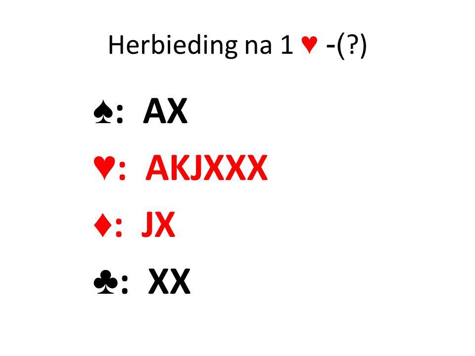 Herbieding na 1 ♥ -( ) ♠: AX ♥: AKJXXX ♦: JX ♣: XX