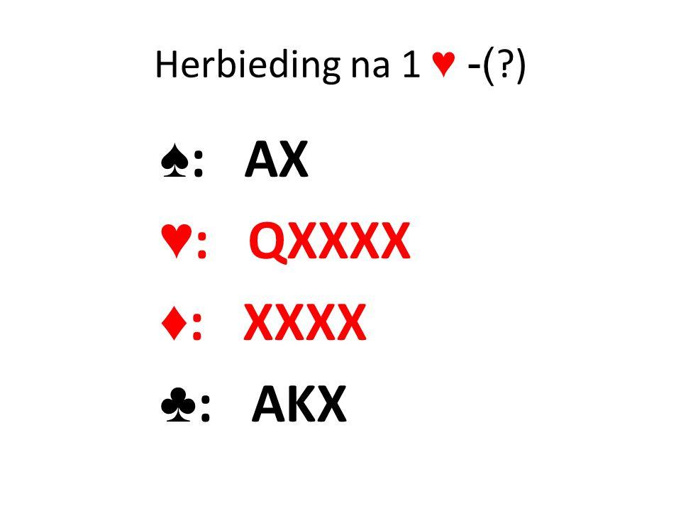 Herbieding na 1 ♥ -( ) ♠: AX ♥: QXXXX ♦: XXXX ♣: AKX