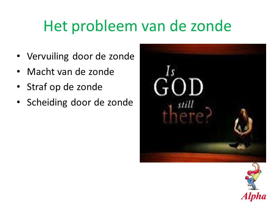 Het probleem van de zonde