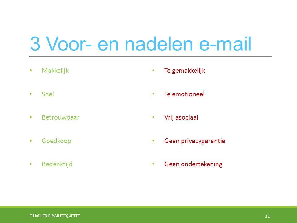 3 Voor- en nadelen e-mail