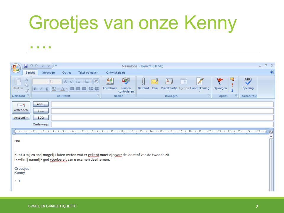 Groetjes van onze Kenny ….