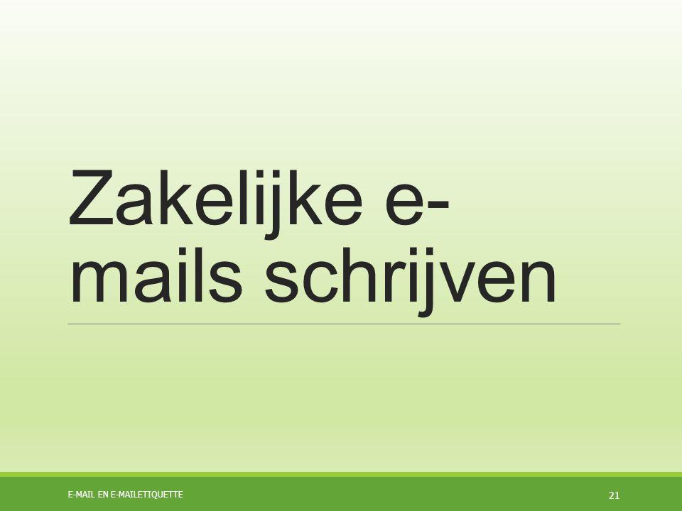 Zakelijke e-mails schrijven