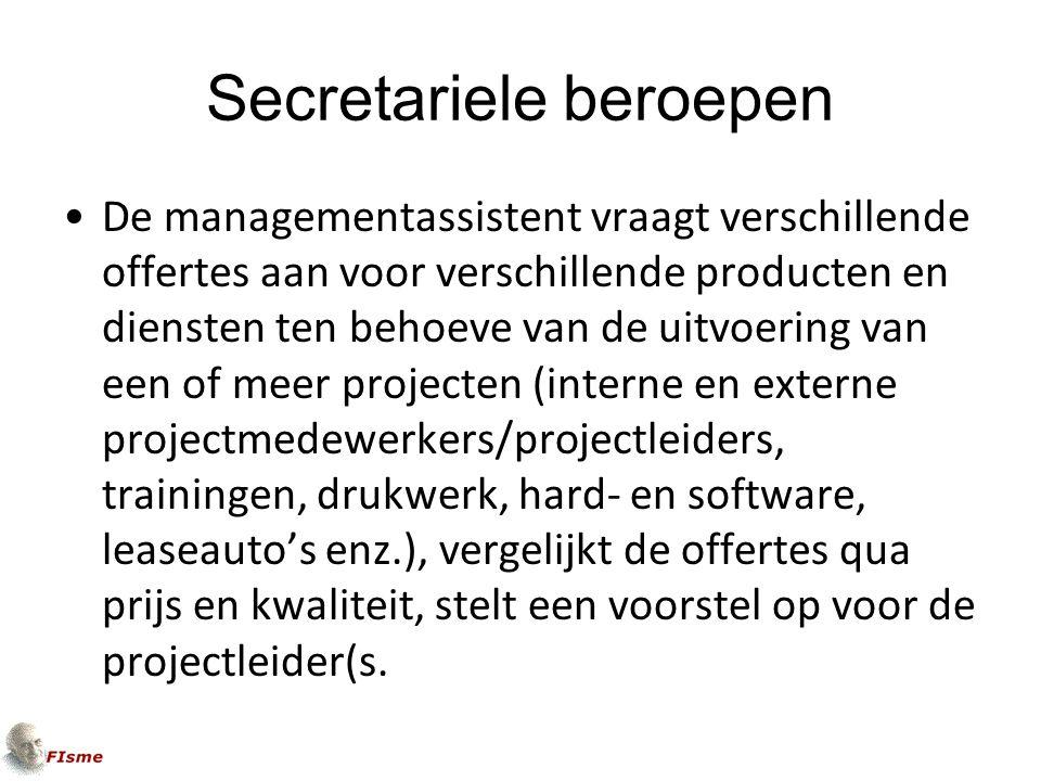 Secretariele beroepen