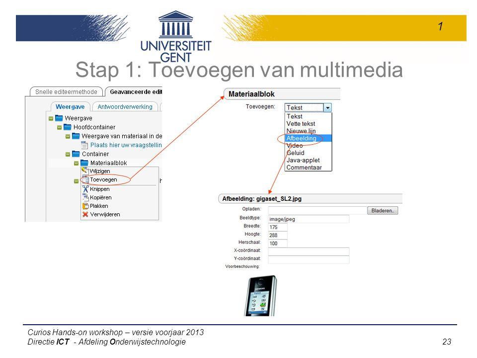 Stap 1: Toevoegen van multimedia