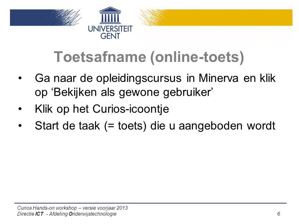 Toetsafname (online-toets)