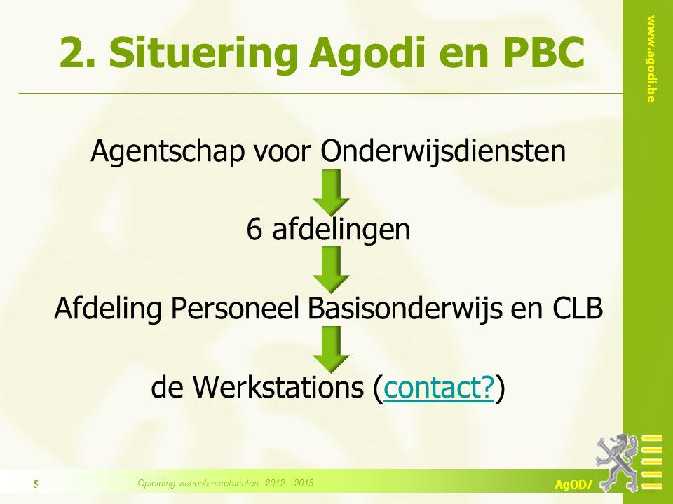 2. Situering Agodi en PBC Agentschap voor Onderwijsdiensten