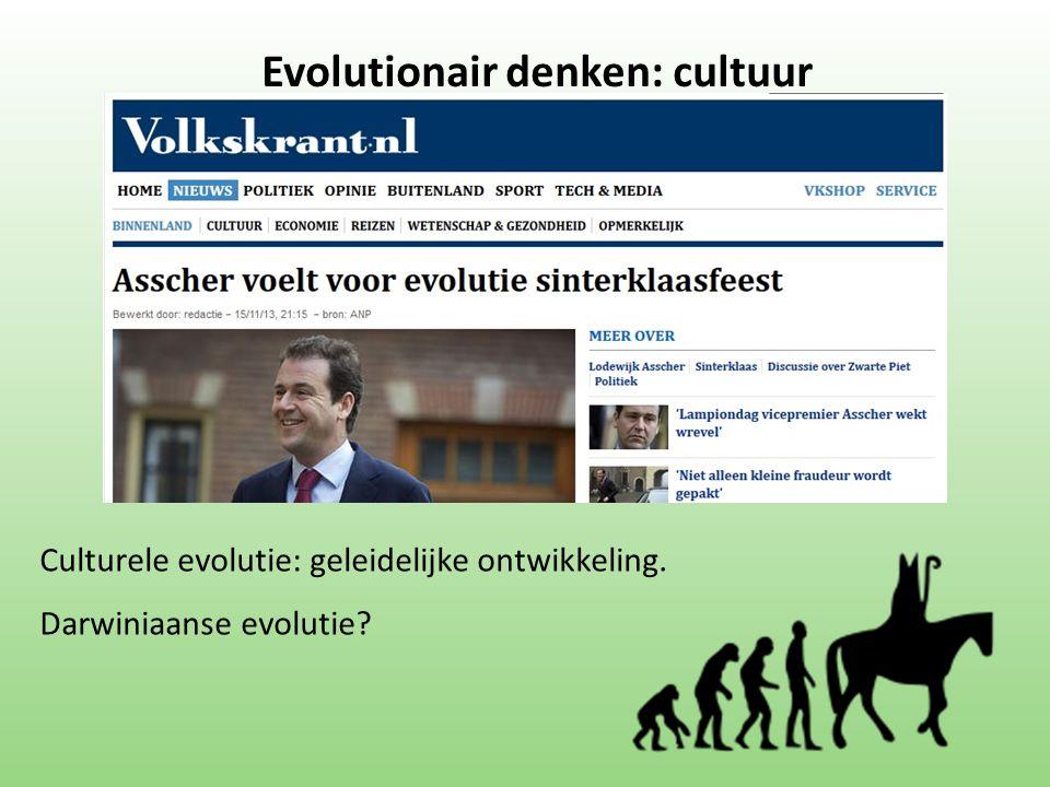Evolutionair denken: cultuur