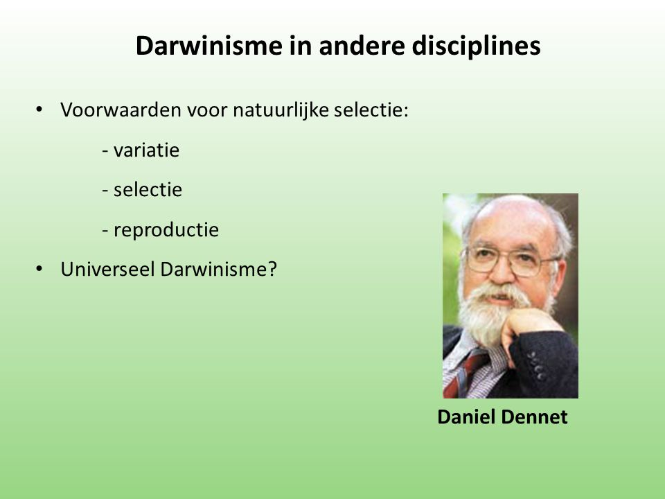 Darwinisme in andere disciplines