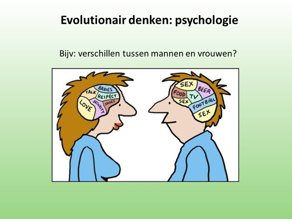 Evolutionair denken: psychologie