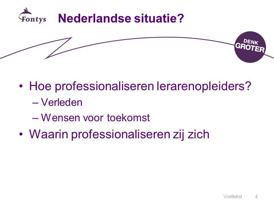 Hoe professionaliseren lerarenopleiders