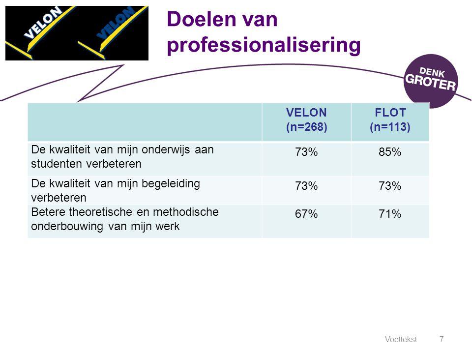 Doelen van professionalisering