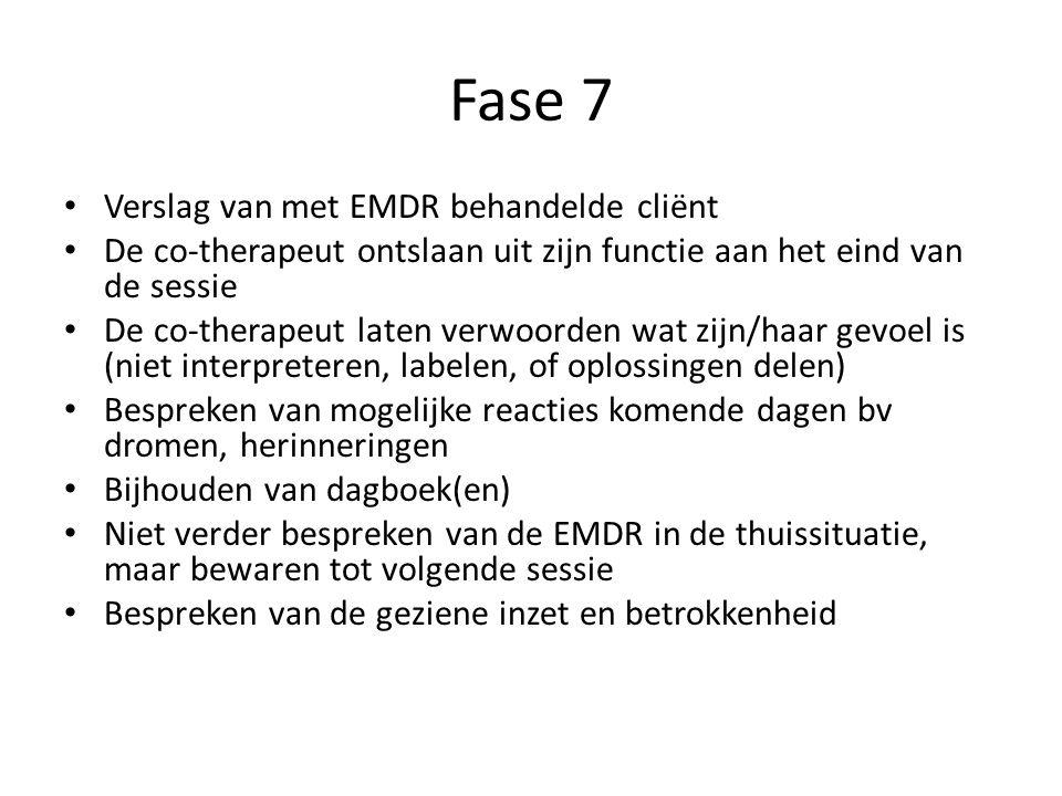 Fase 7 Verslag van met EMDR behandelde cliënt